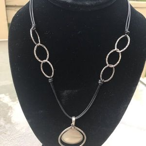 Silpada Jewelry - Silpada Sterling Silver and Leather cord necklace